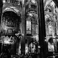 Barcelona Cathedral Interior Bw by RicardMN Photography