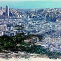 Barcelona Desde El Tibidabo by Tomas Castano
