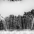 Barcelona Fountains In Mono by Georgia Fowler