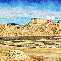 Bardenas Desert Panorama 3 - Vintage Version by Weston Westmoreland