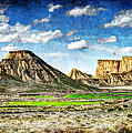 Bardenas Desert Panorama 4 - Vintage Version by Weston Westmoreland