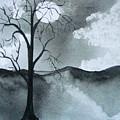 Bare Tree In Moonlight by Dottie Briggs