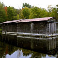 Barge House On The Erie Canal by David Lee Thompson