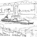 barge under Kanavinsky Bridge. 21 August, 2015 by Tatiana Chernyavskaya
