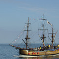 Bark Endeavour - Whitby by Rod Johnson