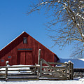 Barn And Blue Sky by Tim Kirchoff