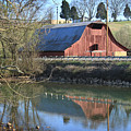 Barn And Reflections by Todd Blanchard
