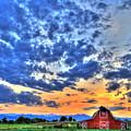 Barn And Sky by Scott Mahon