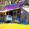 Barn And Truck by Danielle Stephenson