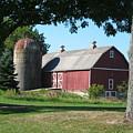 Barn At Leroy Oaks by Carrie Auwaerter