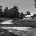 Barn At Yonah Mountain In Black And White 1 by Spencer Studios