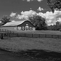 Barn At Yonah Mountain In Black And White 4 by Spencer Studios