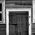 Barn Door And Windows Bw by Mike Nellums
