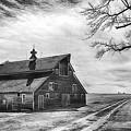 Barn In Black And White by Priscilla Burgers