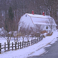 Barn In Blizzard by Rima Biswas
