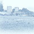 Barn In Blue by Susan Lafleur