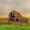 Barn In The Cloudy Sky by Terri Morris