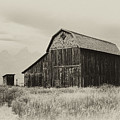 Barn In The Grand Tetons by Hugh Smith