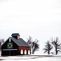Barn In The Snow by Jim Schlottman