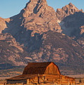 Barn In The Tetons One by Bob Phillips