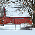 Barn In The Winter by Brittany Horton