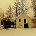Barn In Winter by Elizabeth Tillar