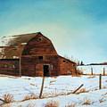 Barn In Winter by Jeannette Sommers