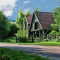 Barn Near Lac De Panthier - P4a160017 by Dean Wittle