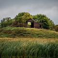 Barn On Hill by Paul Freidlund
