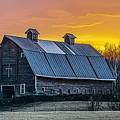 Barn Sunset by Doug Wallick