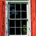 Barn Window Closeup At Old World Wisconsin by Christopher Arndt