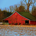 Barn With Double Doors by Laura Birr Brown