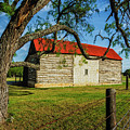 Barn With Red Metal Roof by Fred Adsit