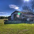 Barn With Sun Flare by Rod Cuellar