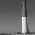 Barnegat Lighthouse And Inlet New Jersey Black And White by Terry DeLuco