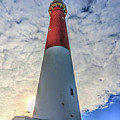 Barnegat Lighthouse In The Clouds by Frank Nicolato