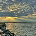 Barneget Lighthouse  New Jersey by Jeff Breiman