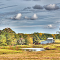 Barns And Pond On A Fall Day by Aaron Shortt