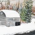 Barns Of West Sand Lake 2 by Sheryl Galinski