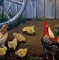 Barnyard Chickens by Holly Bartlett Brannan
