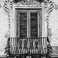 Baroque Balcony Window. Messina, Sicily.    Black And White by David Lyons