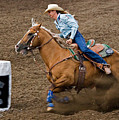 Barrel Racing by Louise Heusinkveld