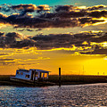 Barrier Island Sunset by Christopher Nelson