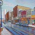 Barrington St In Winter by Rae  Smith