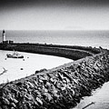 Barry Island Breakwater Film Noir by Steve Purnell
