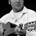 Barry Sadler With Guitar 3 Tucson Arizona 1971 by David Lee Guss