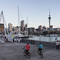Bascule Bridge Between The Wynyard Quarter And Viaduct Marina In by Didier Marti