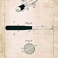 Baseball Bat - Patent Drawing For The 1902 John Hillerich Basebal Bat by Jose Elias - Sofia Pereira