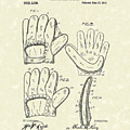 Baseball Glove 1910 Patent Art by Prior Art Design