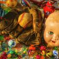 Baseball Glove And Dolls Head by Garry Gay